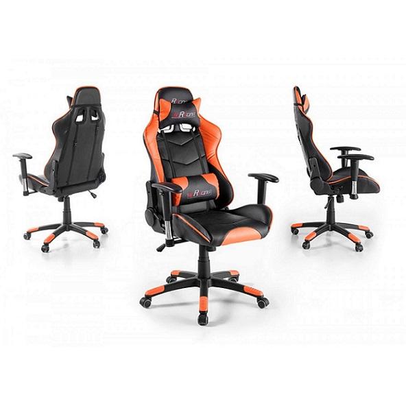 chefsessel mcracing drehstuhl gaming stuhl schreibtischstuhl schwarz orange ebay. Black Bedroom Furniture Sets. Home Design Ideas