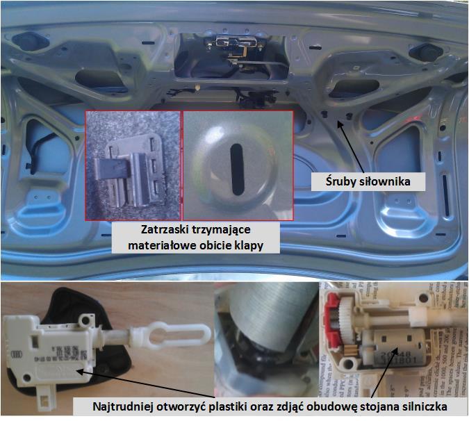 Naprawa Silniczka Zamka W Bagażniku Strona 6 A4 B6b7 Audi A4