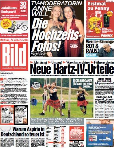 Bild-Zeitung vom 22.08.2016