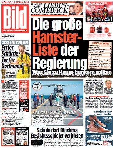 Bild-Zeitung vom 23.08.2016