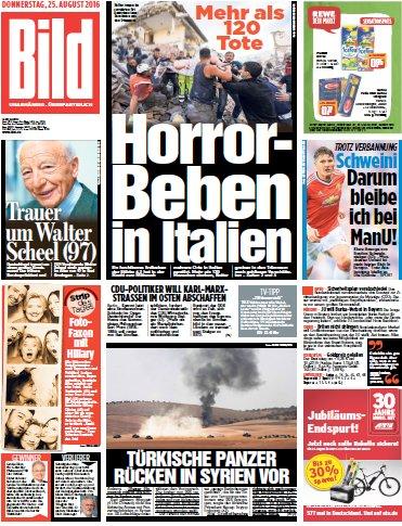 Bild-Zeitung vom 25.08.2016