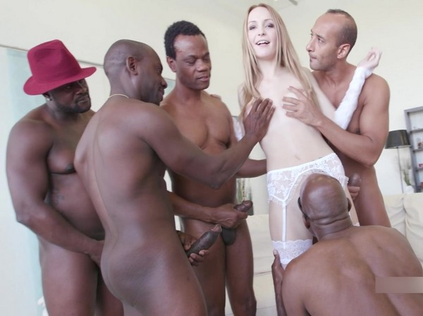 Belle Claire - Black Busters, 5on1 Belle Claire interracial ball deep dp dap gapes 5swallow GIO222 Cover