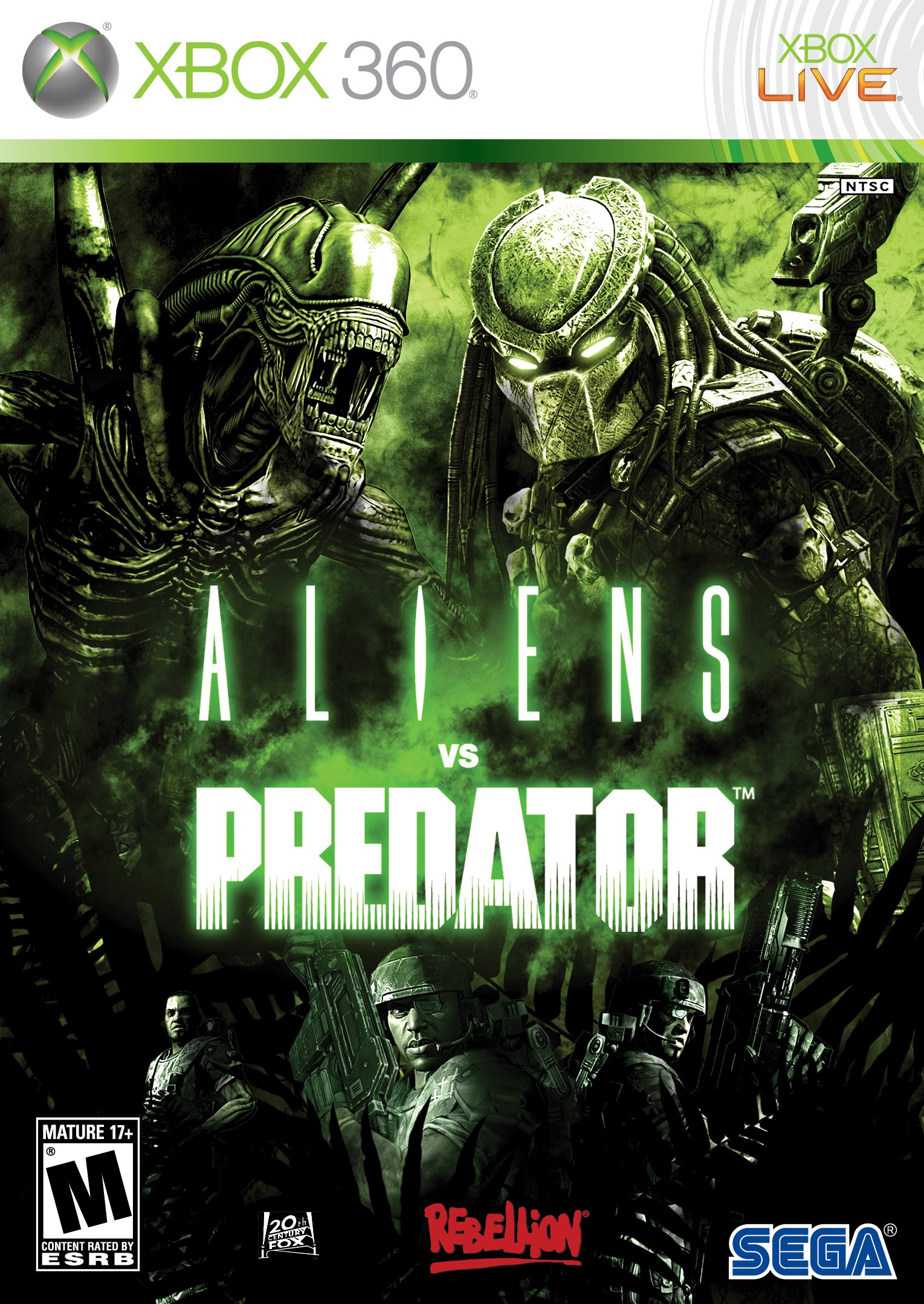 Aliens vs Predator Pal Xbox360-Swag