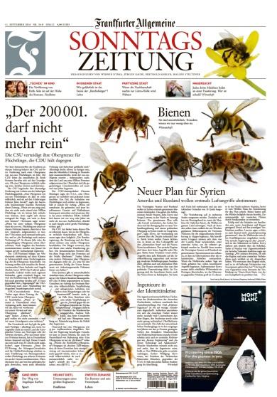 : Frankfurter Allgemeine Sonntagszeitung - vom 11 September 2016