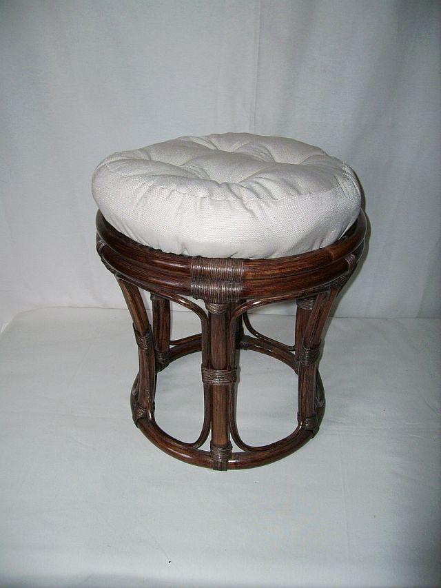 rattan hocker neu in der farbe braun mit polster papasanhocker ebay. Black Bedroom Furniture Sets. Home Design Ideas