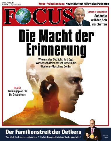 Focus Nachrichtenmagazin No 38 vom 17. September 2016