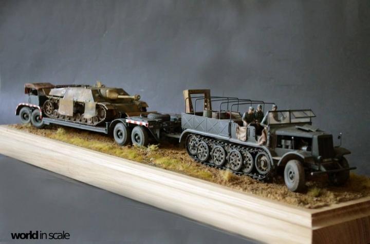 "Sd.Kfz.9 ""Famo"" + Sd.Ah.116 + Jagdpanzer IV"