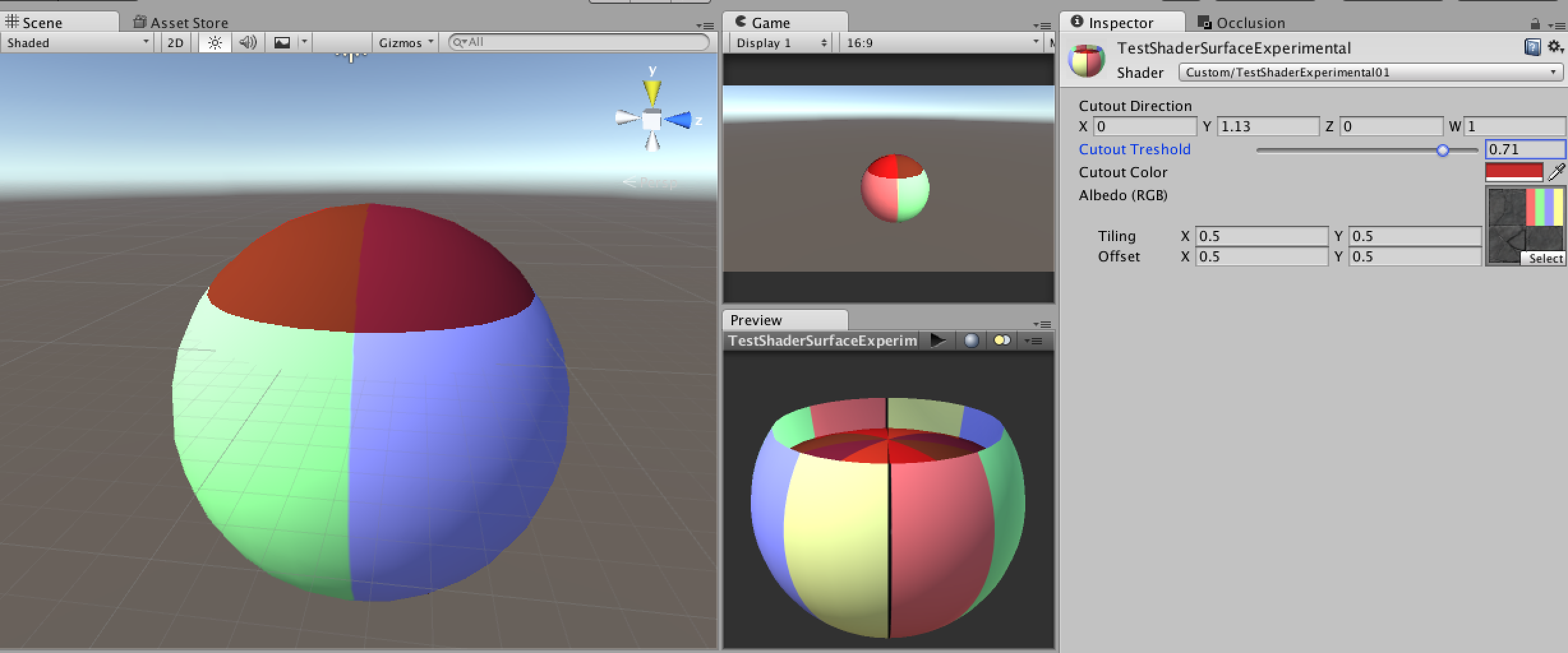 Shader looks good in Preview-Window, but not in Scene/Game View