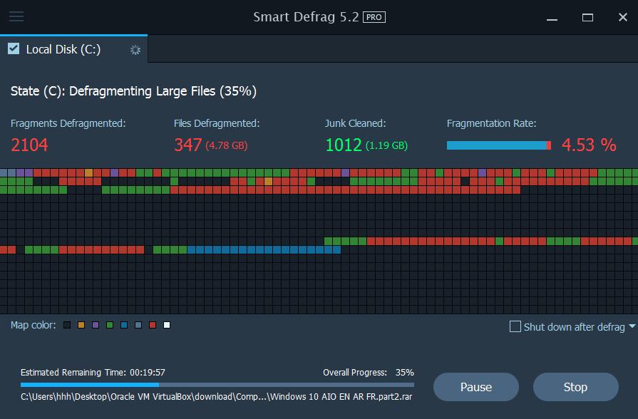 عملاق إلغاء تجزئة القرص الصلب اصدار Smart Defrag 5.2pro portable بوابة 2016 evcwmpay.png