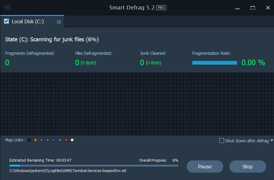عملاق إلغاء تجزئة القرص الصلب اصدار Smart Defrag 5.2pro portable بوابة 2016 wgwgdrg5.png