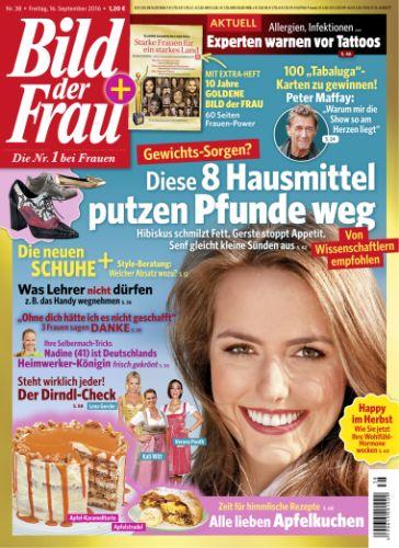 : Bild der Frau Magazin No 38 vom 16  September 2016