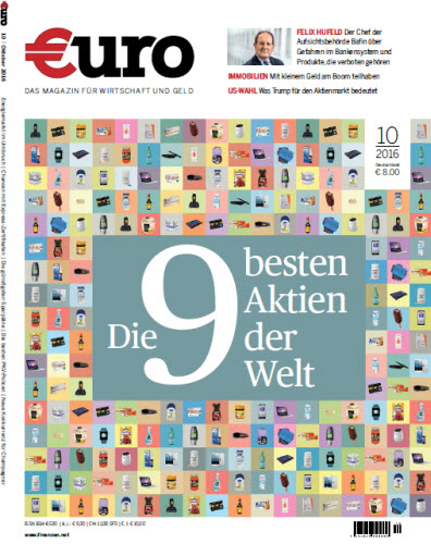 Standard Euro Das Magazin für Wirtschaft und Geld Oktober No 10 2016