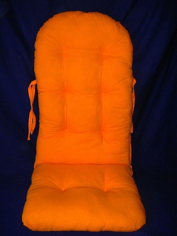Schaukelstuhl auflage polster kissen farbe orange ebay for Schaukelstuhl orange