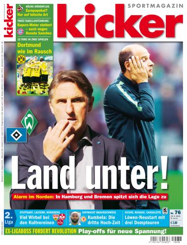 Kicker Sportmagazin No 76 vom 19. September 2016