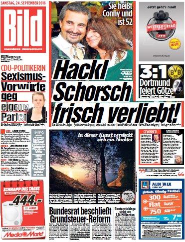 : Bild-Zeitung vom 24.09.2016