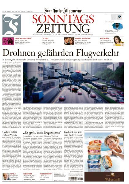 : Frankfurter Allgemeine Sonntags Zeitung - 25 September 2016