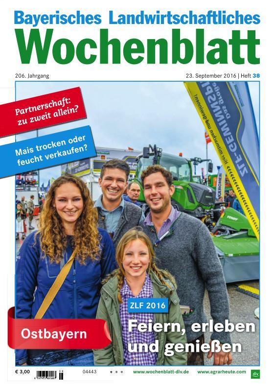 : Bayerisches Landwirtschaftliches Wochenblatt - 23 September 2016