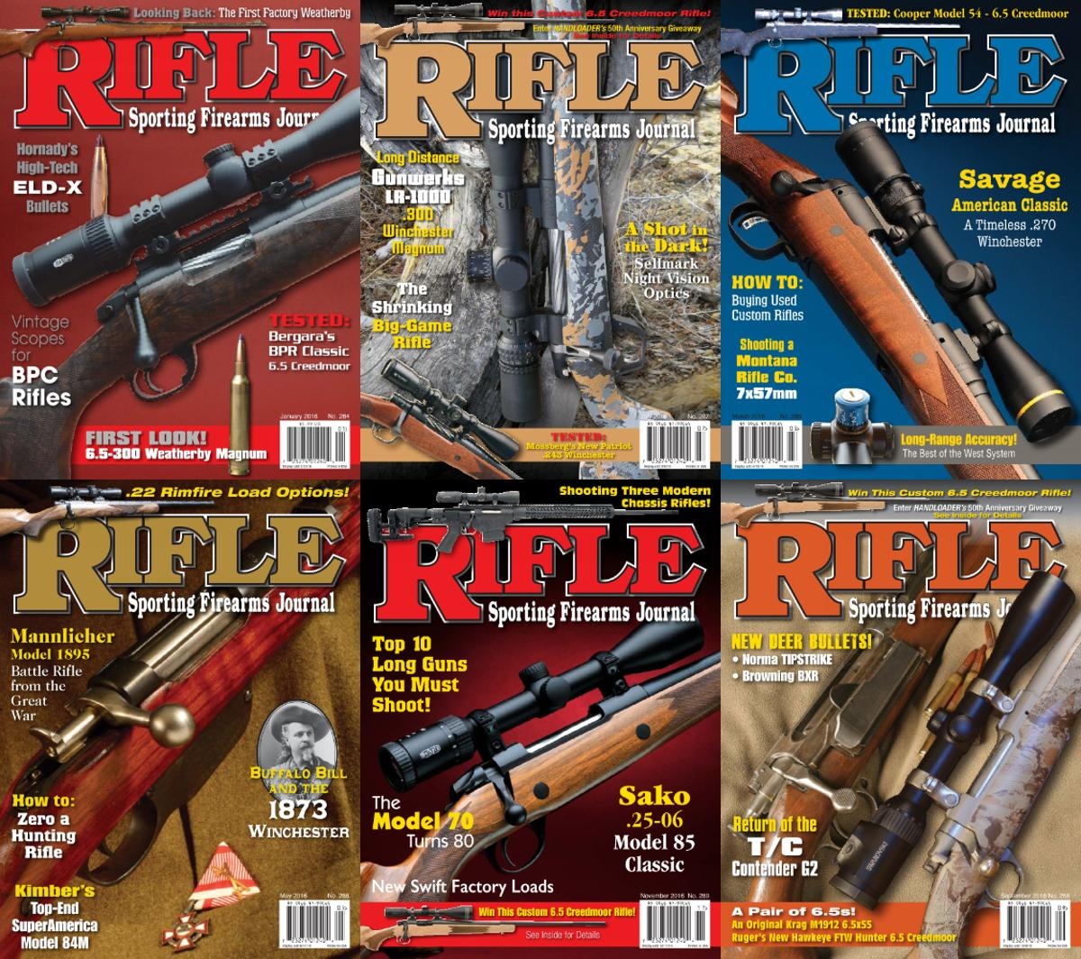 : Rifle Magazine - 2016 Full Year Issues Collection