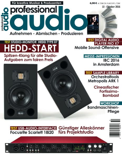 : Professional Audio - Oktober 2016