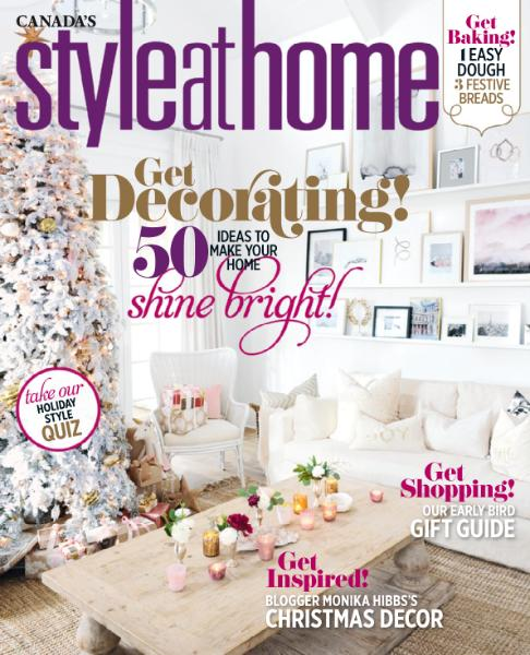: Style at Home Canada - November 2016