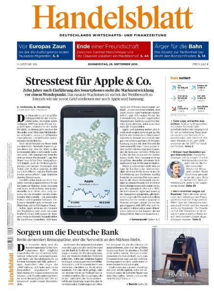 : Handelsblatt - 29 September 2016