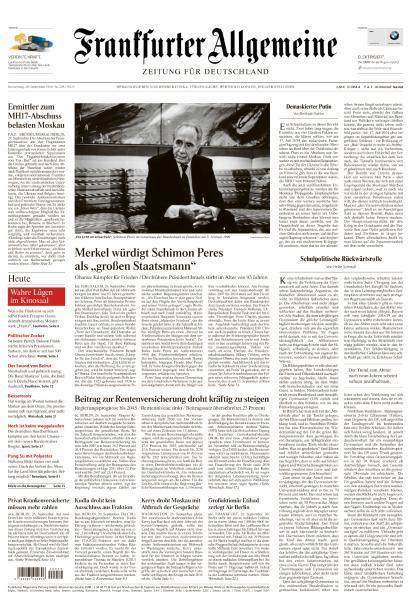 : Frankfurter Allgemeine Zeitung - 29 September 2016