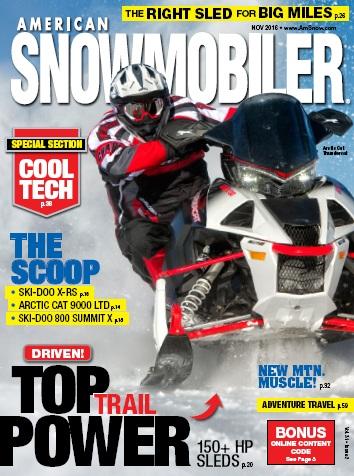 : American Snowmobiler - November 2016