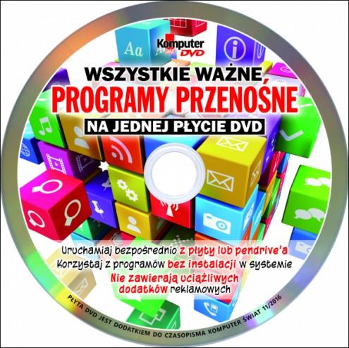 Komputer �wiat  11.2016 - Programy przeno�ne - p�yta (2016)