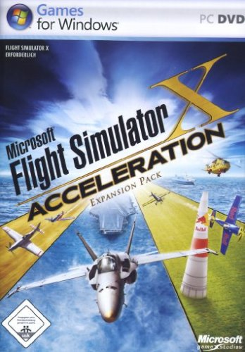 MS Flightsimulator X: Acceleration Deutsche  Texte, Stimmen / Sprachausgabe Cover