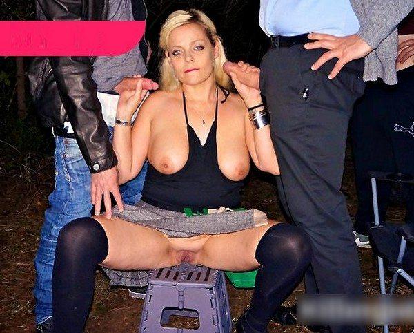 Angie Hotbox - Blonde MILF Dogging