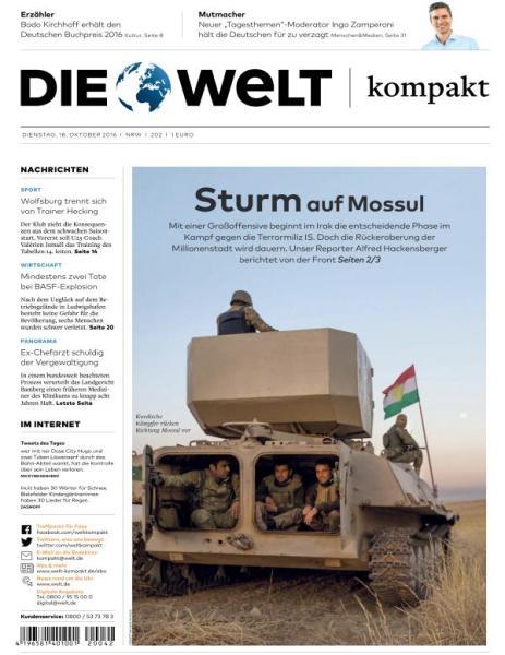 : Die Welt Kompakt - 18 Oktober 2016