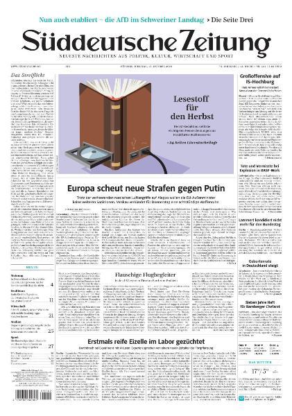 : Suddeutsche Zeitung - 18 Oktober 2016