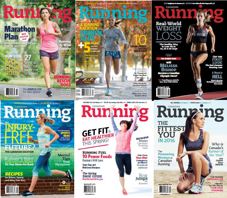 : Canadian Running - 2016 Full Year Issues Collection