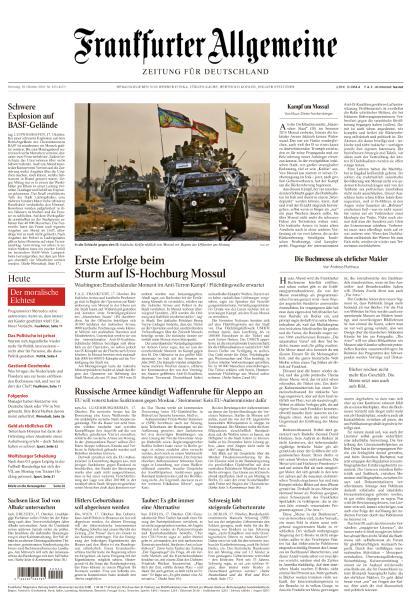 : Frankfurter Allgemeine Zeitung - 18 Oktober 2016