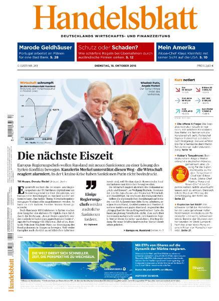 : Handelsblatt - 18 Oktober 2016