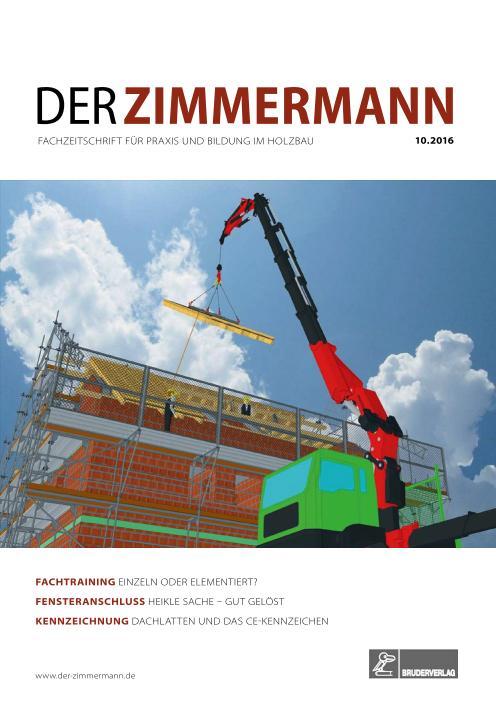 : Der Zimmermann - Nr 10 2016