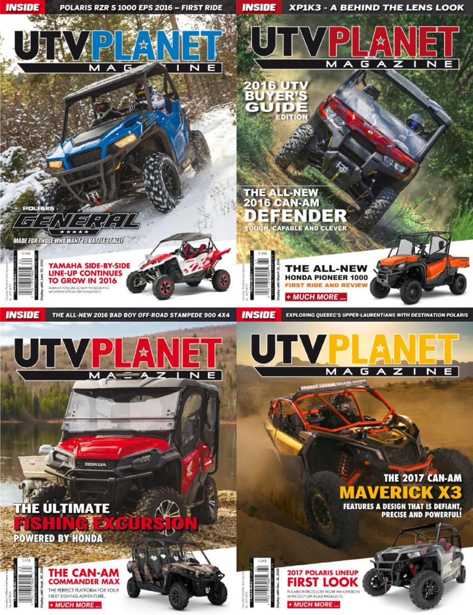 : Utv Planet Magazine - 2016 Full Year Issues Collection