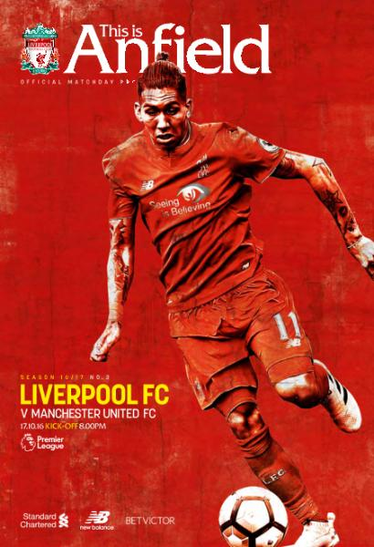 : Liverpool Fc v Manchester United Fc - 17 October 2016