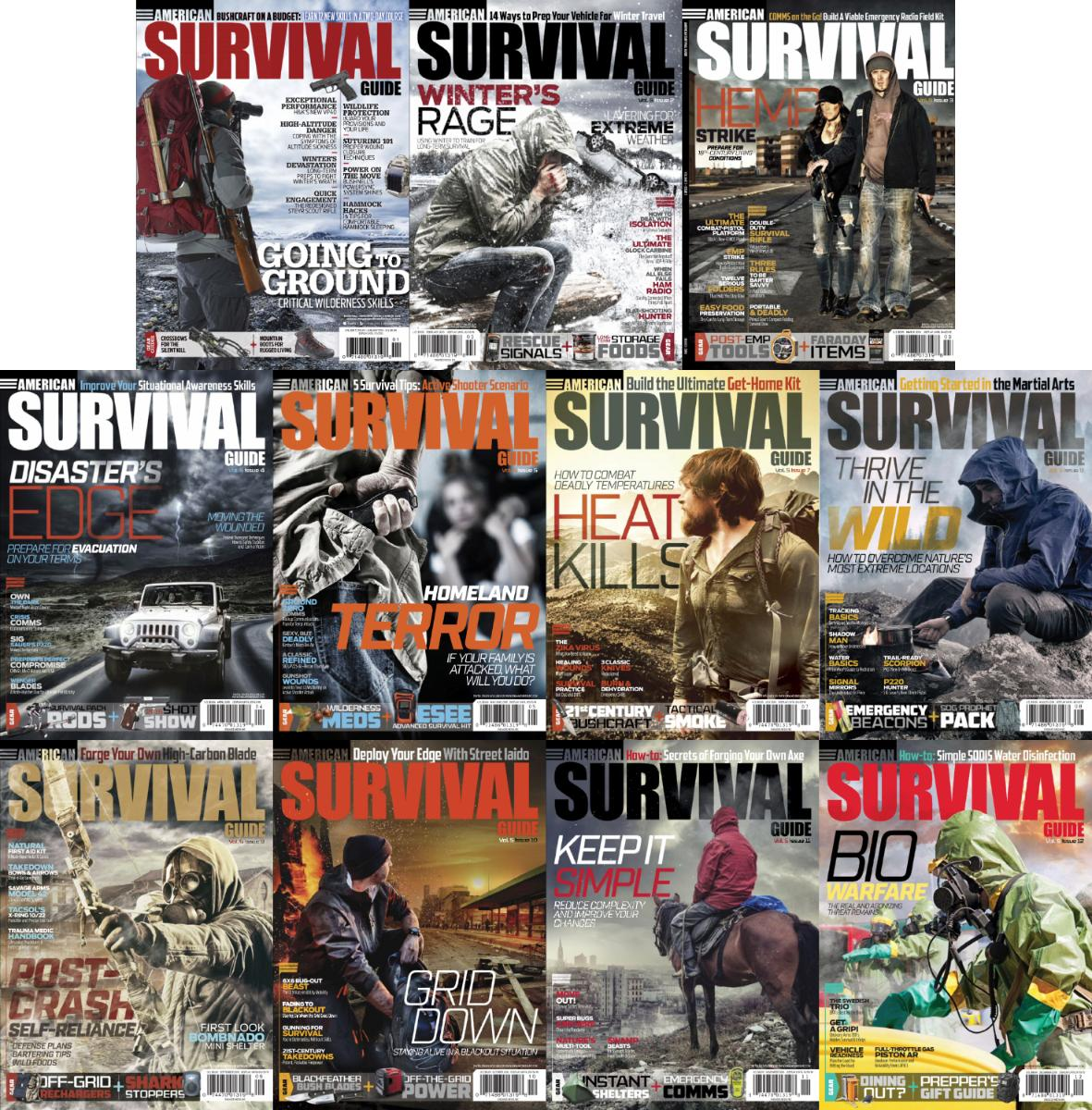 : American Survival Guide - 2016 Full Year Issues Collection