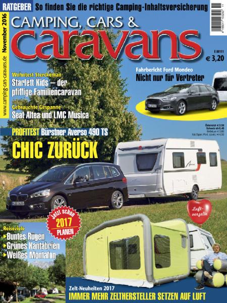 : Camping Cars and Caravans - November 2016