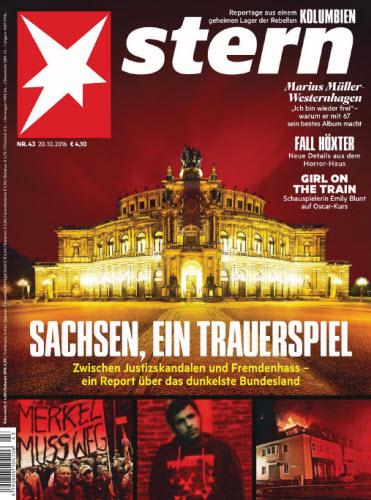 : Der Stern No 43 - 19  Oktober 2016