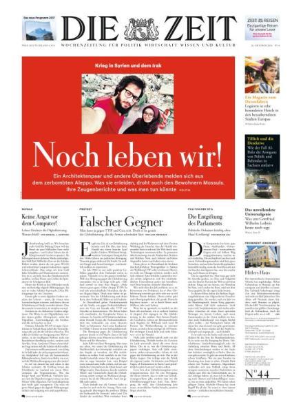 : Die Zeit - 20 Oktober 2016
