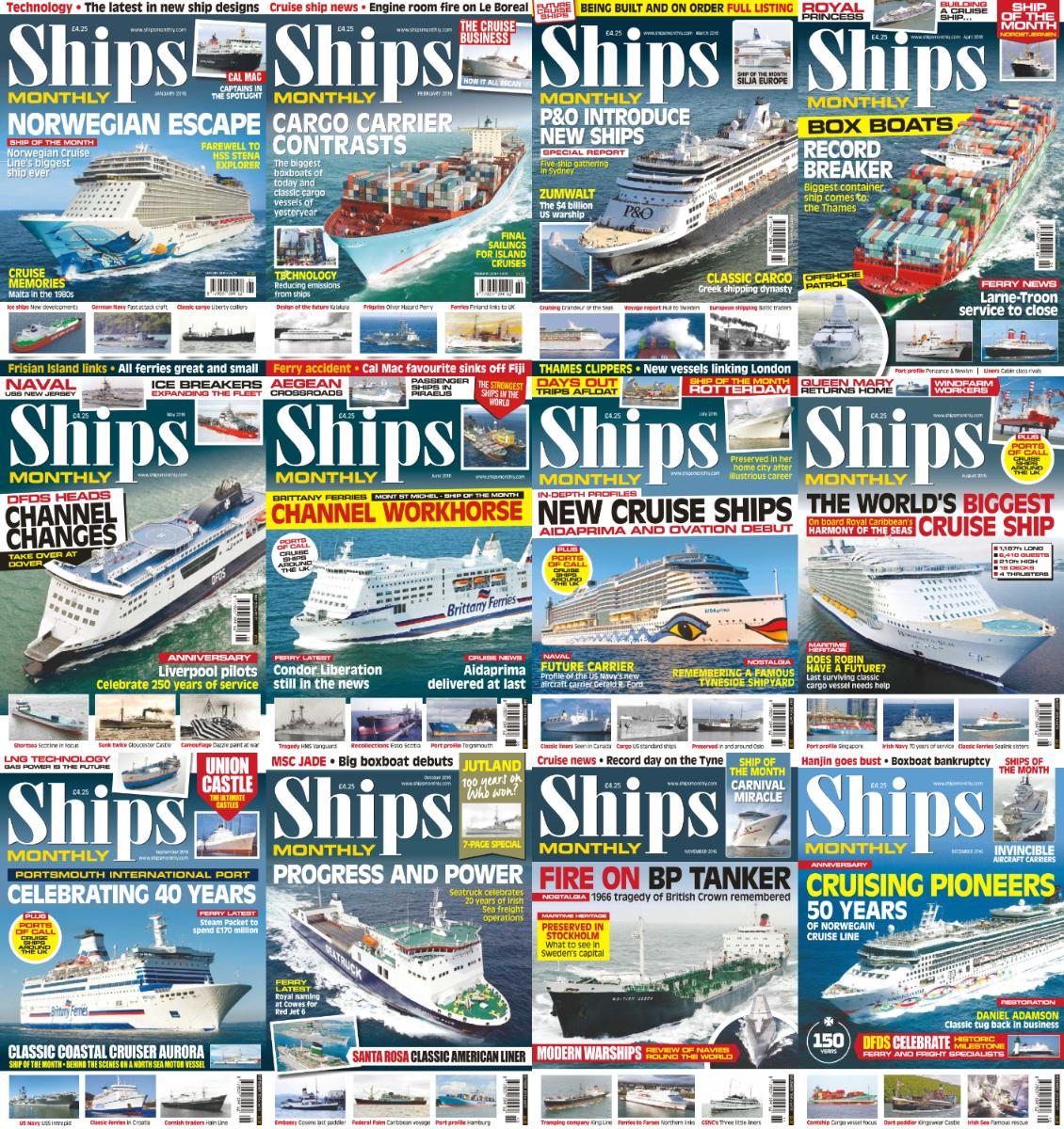 : Ships Monthly - 2016 Full Year Issues Collection