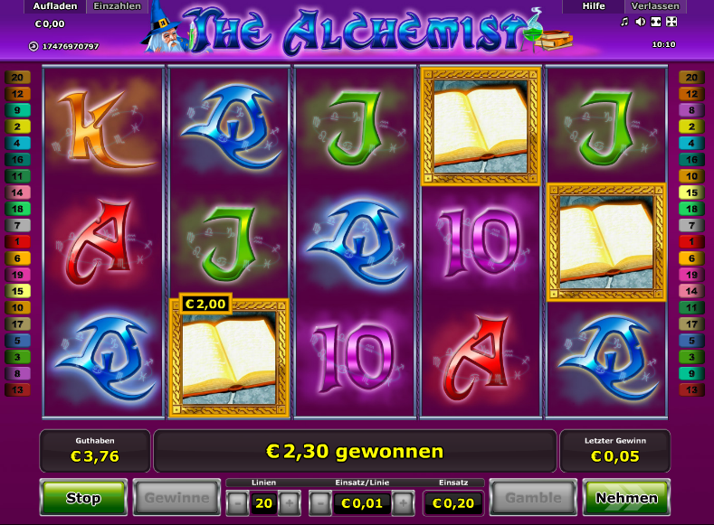 online casino slot book of ra 20 cent