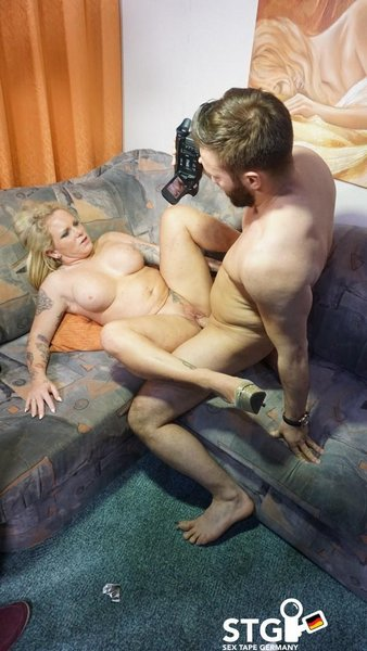 Gina Valentina - A Busty Blonde German Babe With Curves Rides A Dick During Amateur Sex Tape
