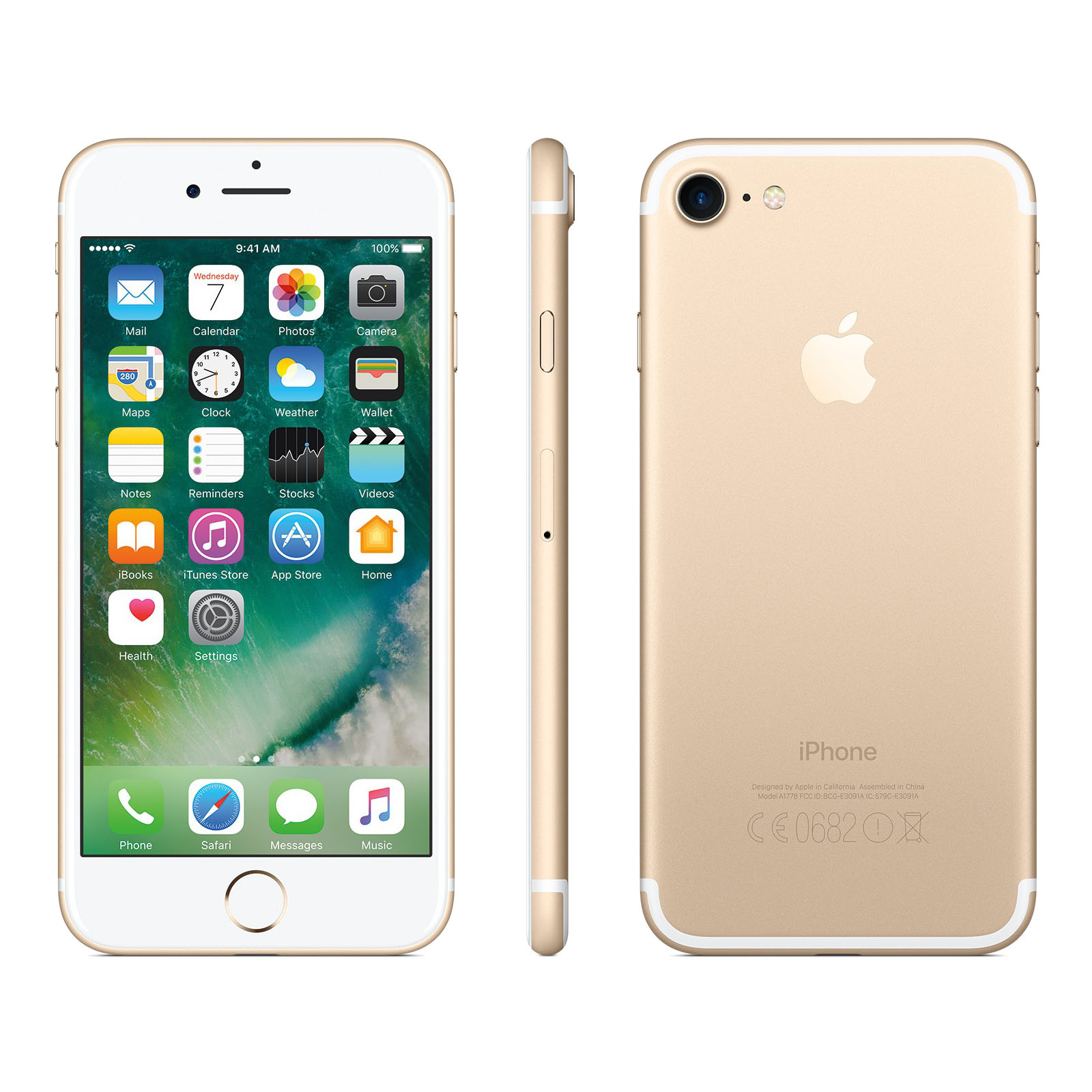apple iphone 7 128gb gold ohne simlock neu ovp. Black Bedroom Furniture Sets. Home Design Ideas