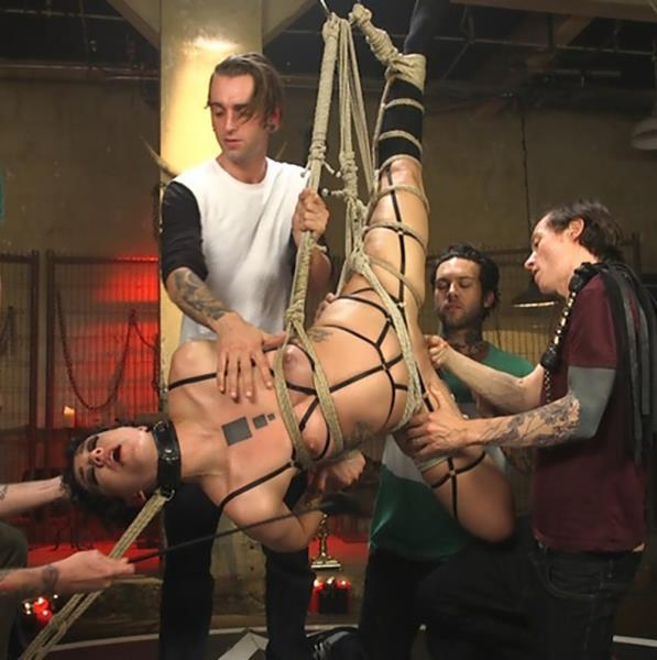 Bianca Stone, Will Havoc, Mickey Mod, Gage Sin, Owen Gray, Small Hands - Screamer_ Double Fucked Gangbang In Bondage And Full Suspension Cover