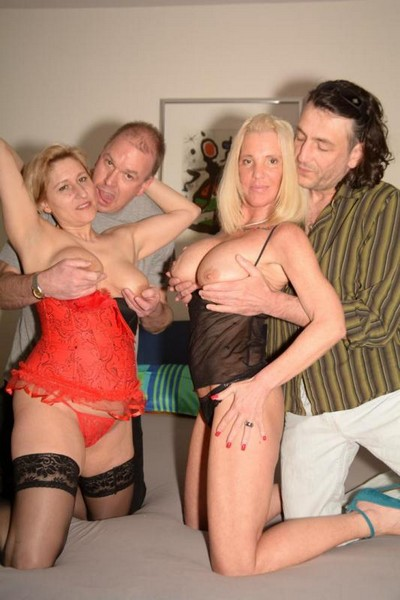 Teresa R., Ursula G. - Hardcore Foursome With Blonde Whores Teresa R. and Ursula G.