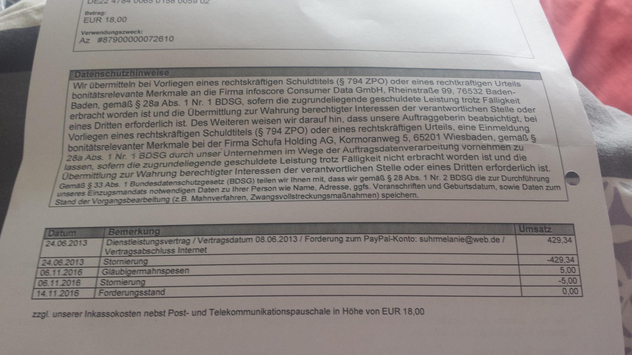 Infoscore Forderungsmanagement Gmbh Verl Paypal Pte Ltd 5