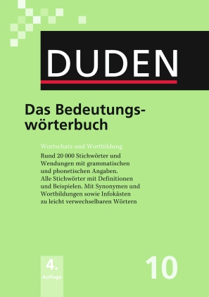 Duden - Das Bedeutungswörterbuch